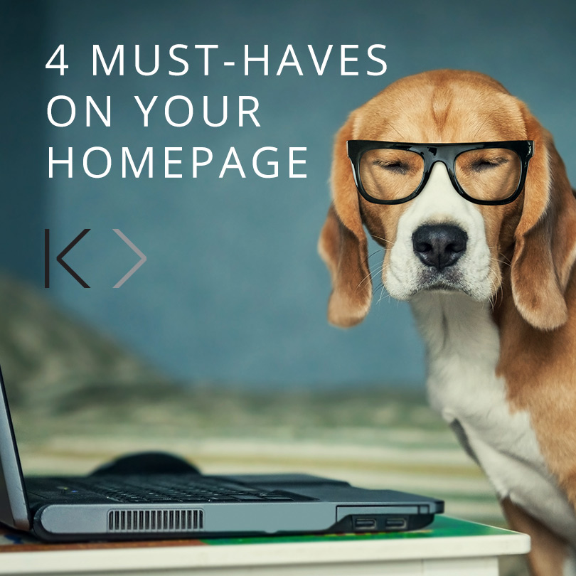 4 MUST haves on your homepage