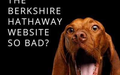 Why is the Berkshire Hathaway website so bad?